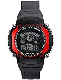 VK Sales Watch With Red Case | Black Dial | Black Belt | Fabulous Look Of Watch | Casual Wear | Suitable For Men...