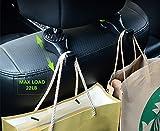 happyle Crochets d'appuie-tête de voiture avec serrure - Porte-cintres de siège de voiture de qualité supérieure pour sac à main avec casier (paquet de 2) Noir