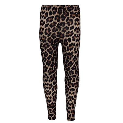 A2Z 4 Kids® Mädchen Legging Kinder Tier Leopard Aufdruck - Brown Leopard Legging 9-10