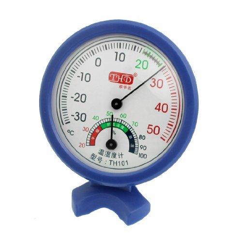 Plastic Shell rundes Zifferblatt Thermometer Hygrometer -35 bis 50 Grad Celsius Blau -