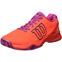 Wilson WRS323420E, Zapatillas De Tenis Mujer, Naranja (Fiery Coral / Fiery Red / Rose Violet), 37 EU