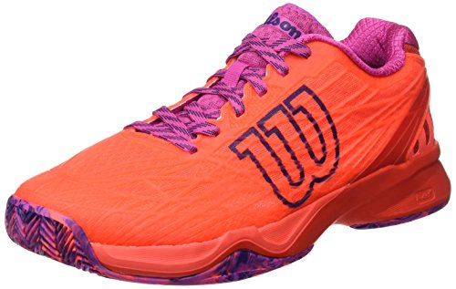 WILSON Damen Wrs323420e065 Tennisschuhe Orange Coral/Fiery Red/Rose Violet, 40 1/3 EU