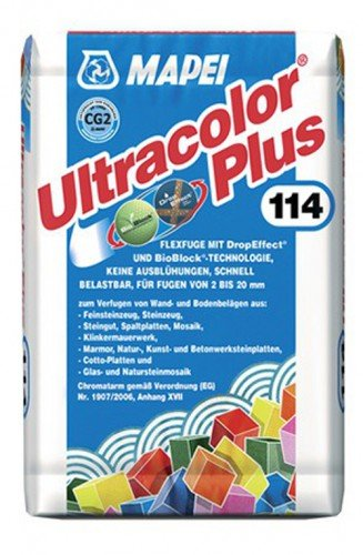 Ultracolor Plus Fugmörtel Zementgrau 5 kg - Flexibler hydraulisch erhärtender Fugenmörtel (Flex Bindemittel)