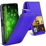 Fone-Case (Blau) HTC One M9s Hülle Abdeckung Fall Clamp Style Schutz PU Leder Flip-Cover