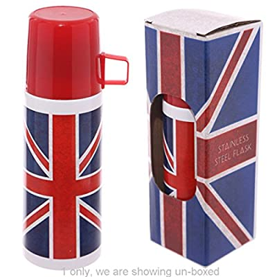 Funky 350ml Flask Union Flag Design Each Of Our Funky Flasks Is Made From Stainless Steel And