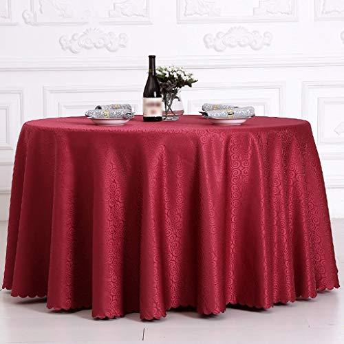 g Tischplatte Tischdecke Tischdecke Europäisch Amerikanischen Stil Hotel Büro Esstisch Tuch Restaurant Meeting Ausstellung Chemische Faser Mehrzweck Innen und Außen, Rund 320cm ()