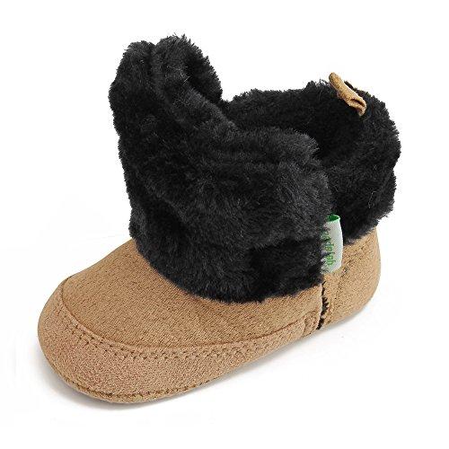 Delebao Babyschuhe Stiefel Baby Mädchen Schuhe Warme Weiche Sohle Schneeschuhe Boots 12-18 Monate