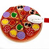 #6: 27Pcs Wooden Pizza Cutting Toy - Best Pizza Pretend Play Toy Set for Toddlers.