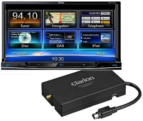 Clarion NX702DAB mit BKX001 - Clarion Bundle NX702E und DAB302E (2-DIN-DVD-Multimedia-Station mit integrierter Navigation und DAB+