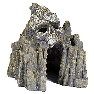 Pet Ting Skull Cave Aquatic Ornament - Aquarium Decoration - Vivarium Decoration 14