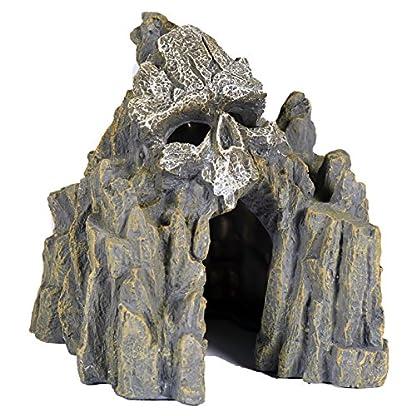 Pet Ting Skull Cave Aquatic Ornament - Aquarium Decoration - Vivarium Decoration 1