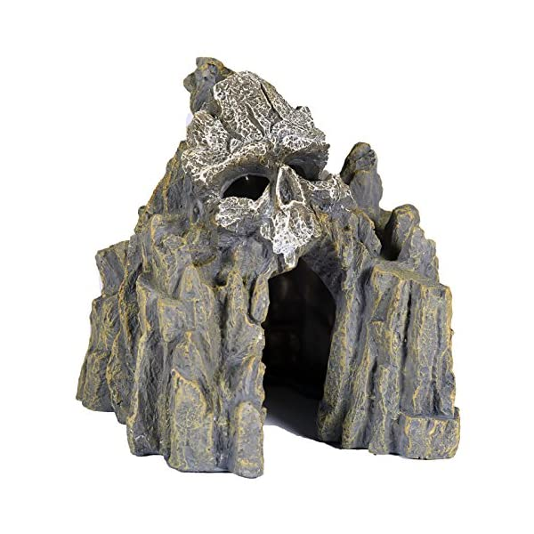Pet Ting Skull Cave Aquatic Ornament – Aquarium Decoration – Vivarium Decoration