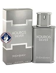 Yves Saint Laurent Kouros Silver 100ml/3.3oz Eau De Toilette Men Cologne Spray
