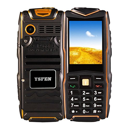 Preisvergleich Produktbild Robuste Smartphone IP68 Wasserdicht Stoßfest Staubdicht 2,4 '' SC6531CA Chipsatz 21 Tasten LED Taschenlampe FM TF Bluetooth Outdoor Handy , Green