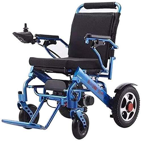 51NMRS1hJRL - Silla de ruedas eléctrica, nuevo control remoto plegable ligero y ligero Silla de ruedas eléctrica motorizada, Scooter de silla de ruedas eléctrica motorizada ligera plegable y de viaje 2019.