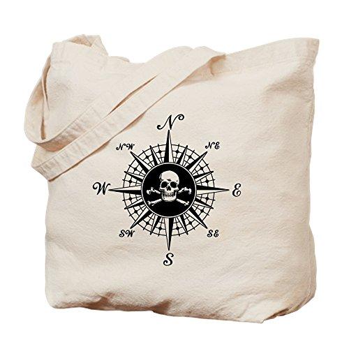 CafePress Compass Rose II Tragetasche, canvas, khaki, S Compass Rose Marine