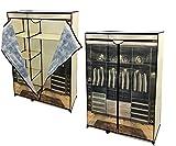 Verschließbarer Kleiderschrank mit Scharnieren, Maße 105 x 46 x 160 cm, vielseitig einsetzbar, mit Schuhschrank, Kabine, platzsparend, Kleiderschrank modern, aus Metall und Tnt
