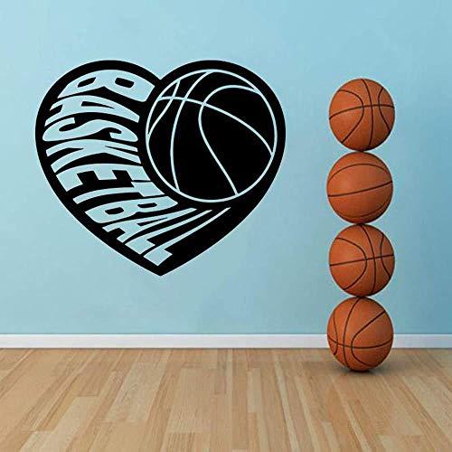 Wandsticker Basketball Dekor Vinyl Basketball Player Schlafzimmer Wandtattoo Dekoration Für Wohnzimmer Fenster 48X42cm