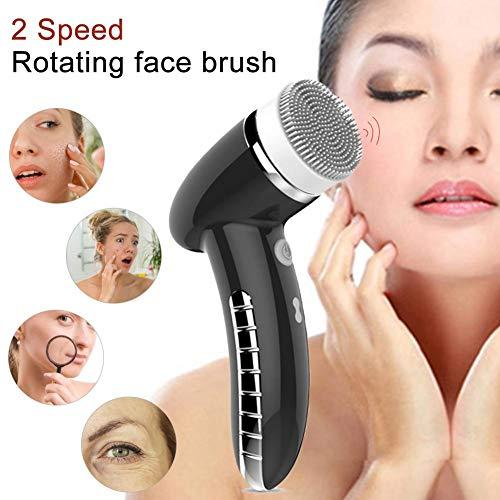 Cepillo de limpieza facial Instrumento de limpieza Cepillo de limpieza facial giratorio...