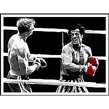 imagenation Rocky 'rojo guantes de boxeo'–60cm x 80cm impresión en láminas autoadhesivas papel Póster