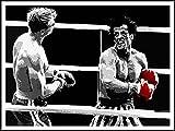 imagenation Rocky 'rojo guantes de boxeo'-60cm x 80cm impresión en láminas autoadhesivas papel Póster