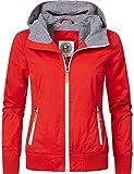 Peak Time Damen Übergangs-Jacke Kapuzenjacke L62064 Chili Red Gr. XL