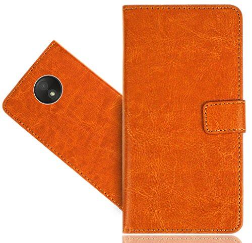 Preisvergleich Produktbild Motorola Moto C Plus Handy Tasche, FoneExpert® Wallet Case Cover Genuine Hüllen Etui Hülle Ledertasche Lederhülle Schutzhülle Für Motorola Moto C Plus