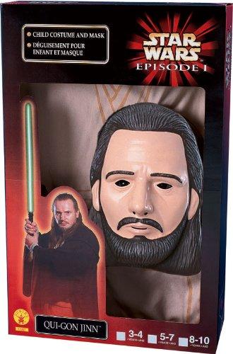 Star Wars Kinder Kostüm Jedi Qui-Gon Jinn mit Maske zu Karneval Gr.S