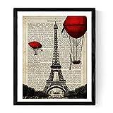 Nacnic Poster di Parigi. Torre Eiffel Poster in Stile Vintage con Definizione di Amore in Spagnolo. Prodotto di Design di Alta qualità Stampato su Carta da 250 gr. Dimensioni 30x40 cm