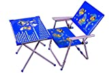 #10: M/s AVANI TRADING & MFG CO. Iron Kid's Table Chair Set, 70 x 60 x 40cm (Blue, Avani010)