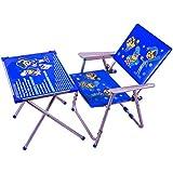 M/s AVANI TRADING & MFG CO. Iron Kid's Table Chair Set, 70 x 60 x 40cm (Blue, Avani010)