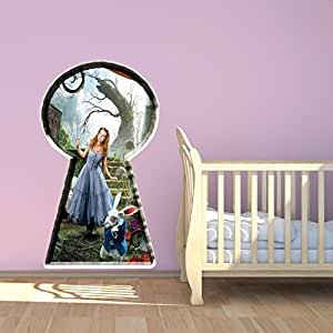 Alice in Wonderland Full Colour Wall Sticker Decal Mural Kids Bedroom Transfer Print Graphic