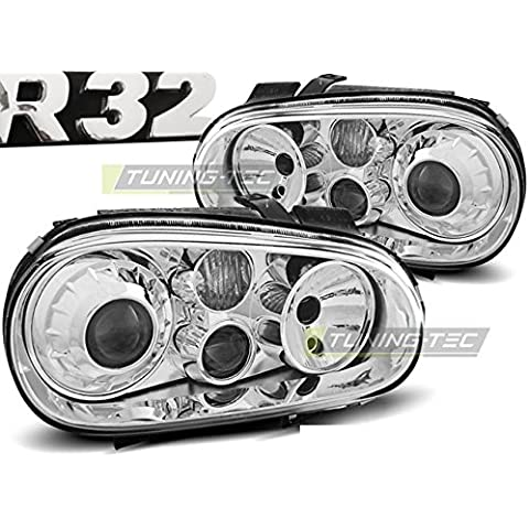 Top Set Faros lámparas lpvw61 VW Golf 4 09.1997 – 09.2003 R32 Look Cromo