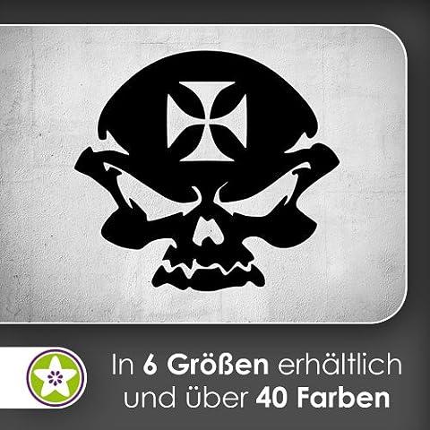 Iron Cross Skull Sticker mural Sticker mural Wall Stickers–6Tailles, 55_mint, 120 x 110 cm