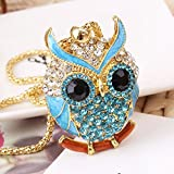 Macngrid® Women Sweater Chain Necklace Owl Design Rhinestones Crystal Pendant Necklaces Jewelry Clothing Accessories Drop Shipping