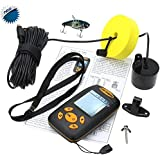 [Nueva versión] BuydalyOutdoor Portable Fish Finder pantalla Sonar Sensor alarma transductor sonda de profundidad y temperatura Finder
