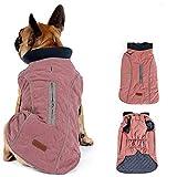 Morezi Retro Design Cozy Winter Dog Pet Jacket Vest Warm Pet Outfit Clothes Pleat cotton 2 colors With Harness Hole - M - Pink
