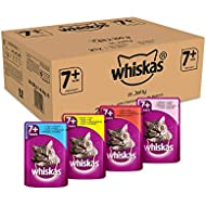 Whiskas Cat / Wet Food Senior 7+ Fish and Poultry Selection in Jelly, (84 x 100g)