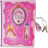 Lucy Locket- Diario secreto para niñas rosa diseño de princesa con candado.