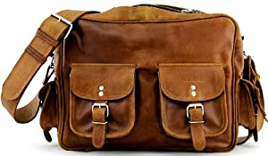 Borsa (A4) colore naturale (M) borsa pelle vintage, la borsa a spalla, borsa a tracolla, PAUL MARIUS, Vintage & Retro