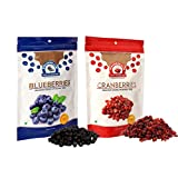 Wonderland Sliced Berries Combo Pack - Dried Cranberries 200 gm & Dried Blueberries