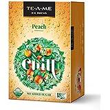 TE-A-ME Ice Brews Cold Brew Ice Tea, Peach, 18 Pyramid Bags