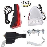 YOSPOSS - Juego de Luces LED para Bicicleta, Impermeables, para Ciclismo, Dinamo y Faros Traseros de Bicicleta