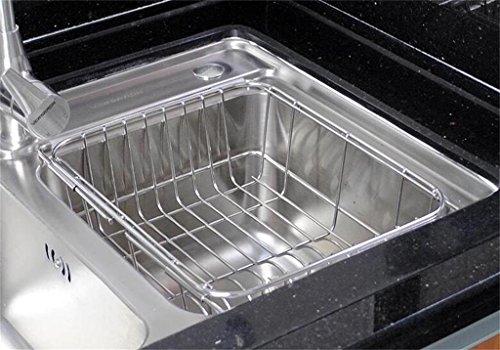 étagère de rangement plat de cuisine en acier en rack / porte-bol télescopique / inox plateau de vidange d'évier Étagère d'armoire ( Couleur : 1# )