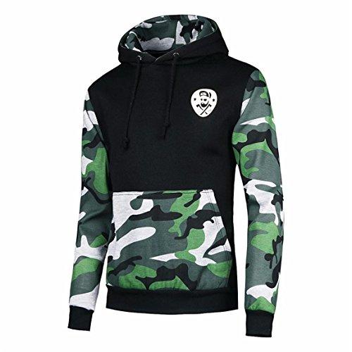 Männer Hoodie Jacke,Moonuy Herren Herbst Camouflage Mantel Jacke Frühling Winter New Style Swearshirt Hoodie Langarm Casual Outwear Freizeit Sweatshirt (S, Grün)