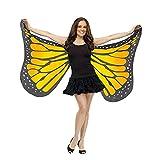 Overdose Damen Faschingskostüme Kinder Mädchen Jungen Butterfly Wing Cape Schmetterling Flügel Kostüm Schmetterlingsflügel Erwachsene Karneval Kostüm Kimono Schal Cape Tuch (147*70CM, A-Orange)