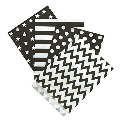 Preisvergleich Produktbild 100 Frau Wundervoll Papiertüten - Design Mix - 4 Designs mit je 25 Papiertüten / Geschenktüten / Candy Paper Bags