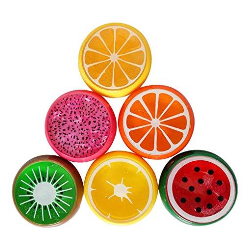 Covermason 6 PCS Multicolor Bricolaje No Tóxico Arcilla Slime Fruta Arcilla de Moldear Juguetes para Niños