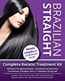 Searching Plants Brazilian Straight, Keratin Home Use Treatment Kit, Salon Quality Hair Straightening/Blow Dry/Smoothing, 100ml, Great Gift/Present