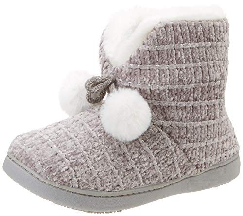 Isotoner Chenille Boot Poms Slippers, Chaussons Bas Femme